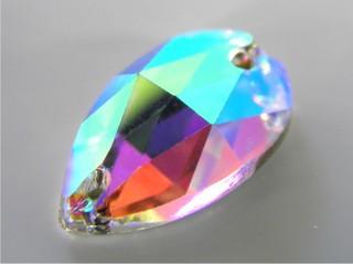 Pietre in cristallo da cucire AB Goccia 18 mm