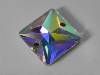 Pietre in cristallo da cucire AB Quadro 14 mm