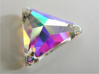 Pietre in cristallo da cucire AB Triangolo 18 mm